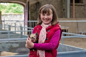 Helen Duffy aged 11 from Colbinstown County Kildare   holding he